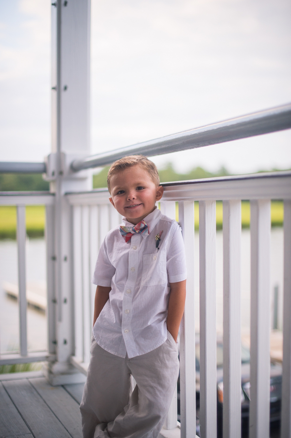 CHARLESTON WEDDINGS - Ring bearer at laidback Summer wedding at Creek Club at I'On by Molly Josephy Photography