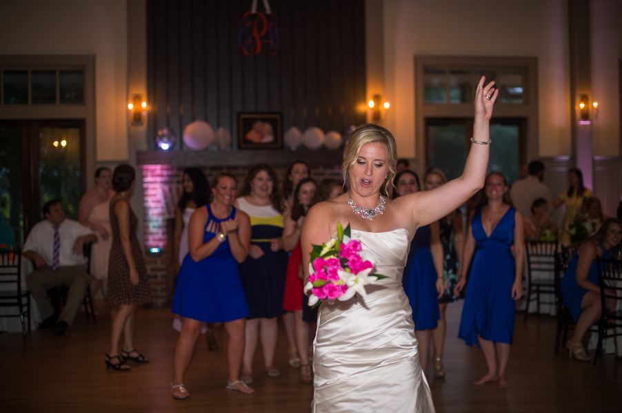 CHARLESTON WEDDINGS - bouquet toss at Summer wedding by Molly Joseph Photography