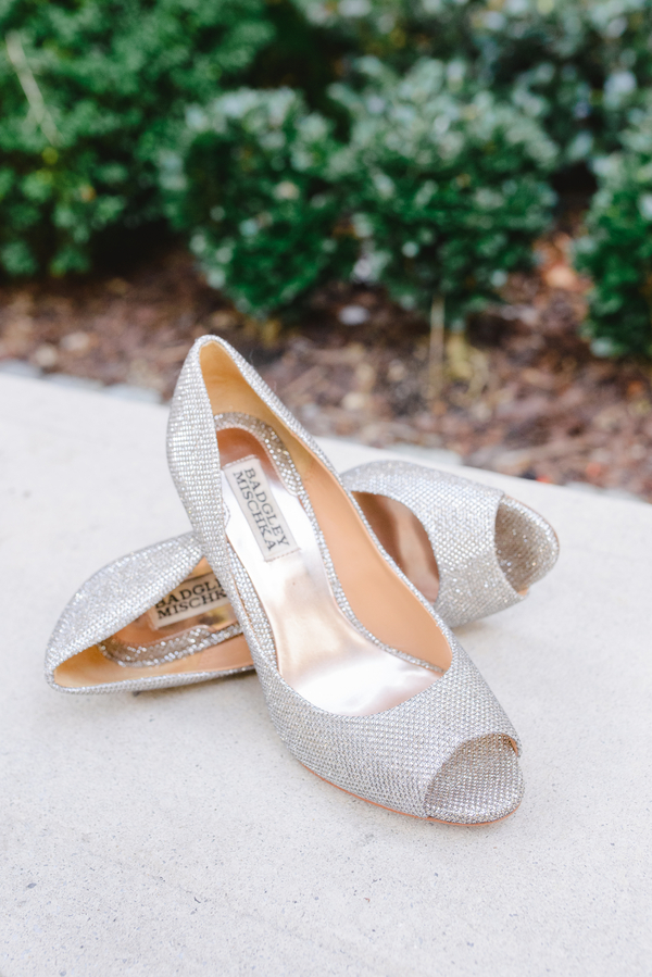 Badgley Mischka Charleston wedding shoes by Priscilla Thomas Photography