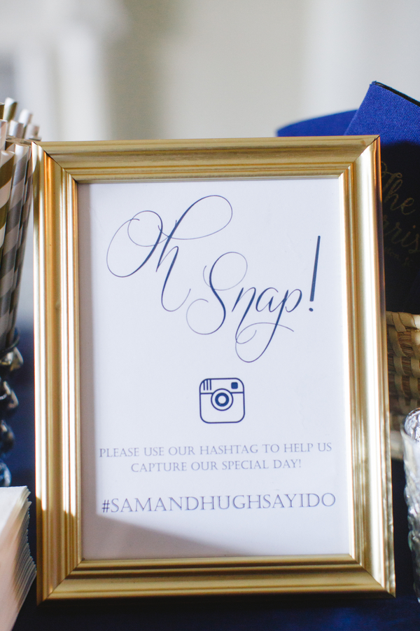 Charleston wedding hashtag at The South Carolina Society Hall #samandhughsayido