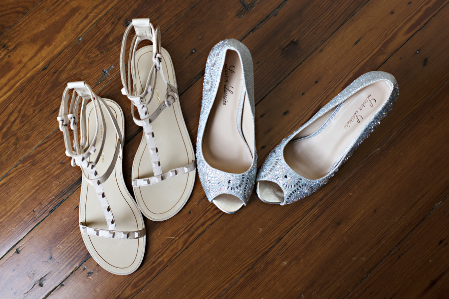 Savannah wedding shoes by Donna Von Bruening Photography