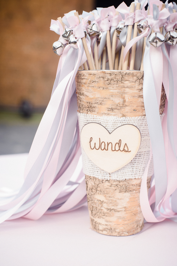 Ribbon wands for Savannah wedding exit