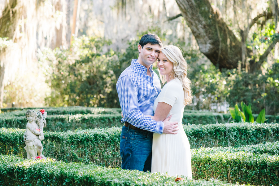 Lindsay + Campbell's Magnolia Plantation & Gardens engagement by Aaron and Jillian Photography