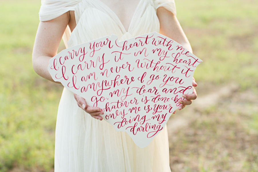 South Carolina wedding calligraphy by Leen Machine Calligraphy & Design