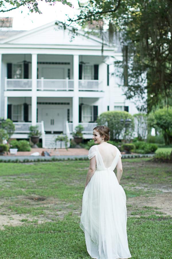 Bride wearing an ASOS dress at Tanglewood Plantation