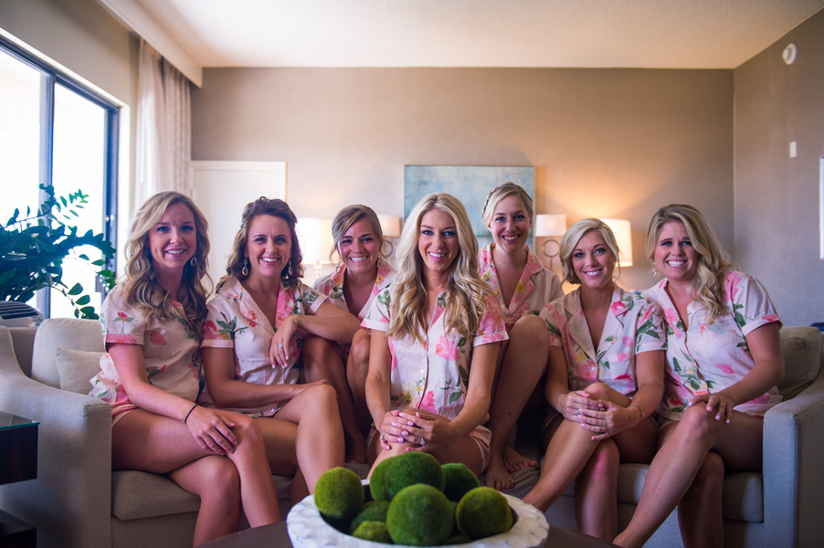 Bridal party and Bride prepping for wedding day by Molly Joseph Photography