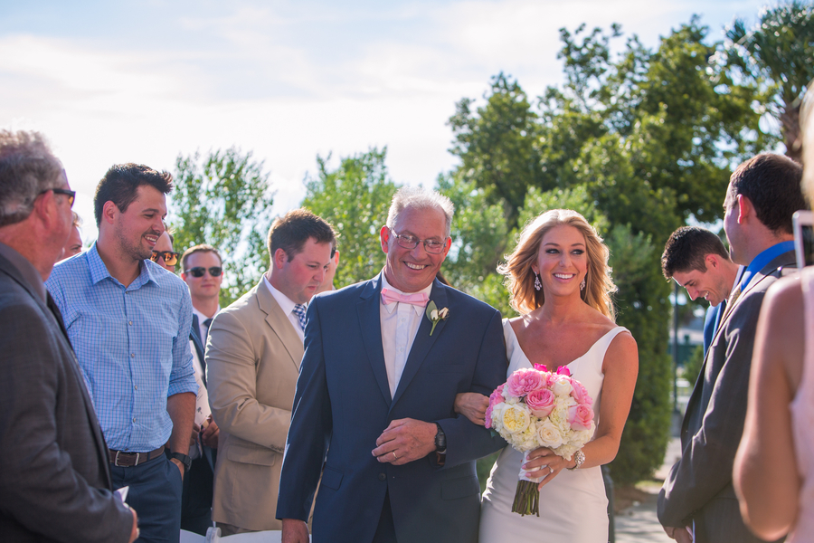 Outdoor wedding ceremony at The Historic Rice Mill Building