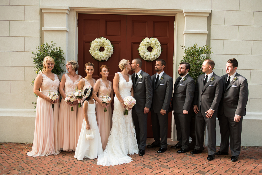 Bridal Party at Coleman Hall & Chapel wedding in Charleston, Sc
