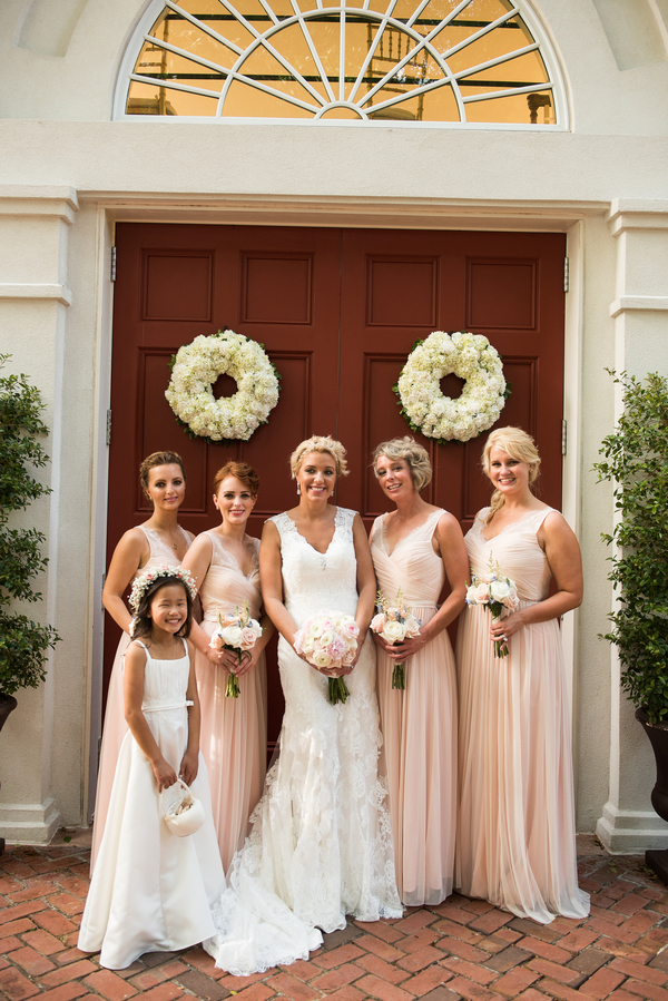 Bridesmaids at Coleman Hall & Chapel wedidng