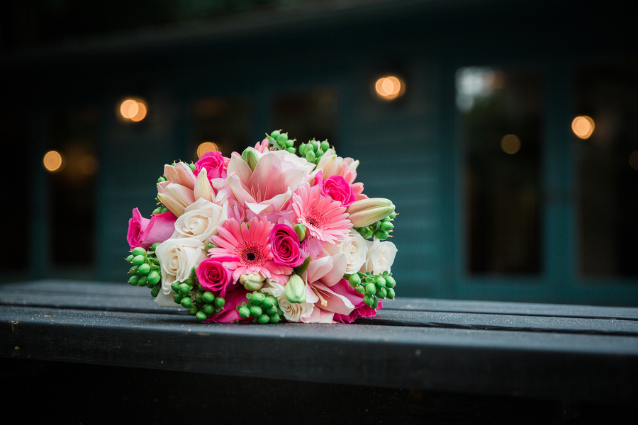 Pink Charleston wedding bouquet