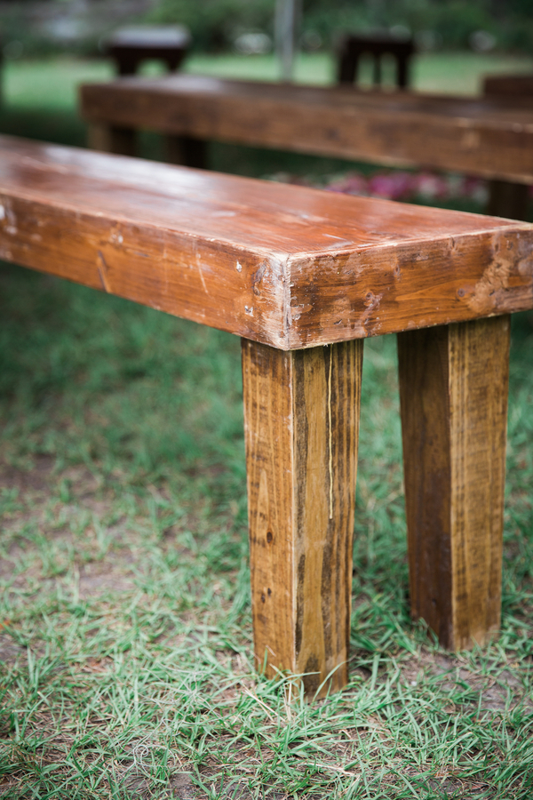 Charleston wedding ceremony benches