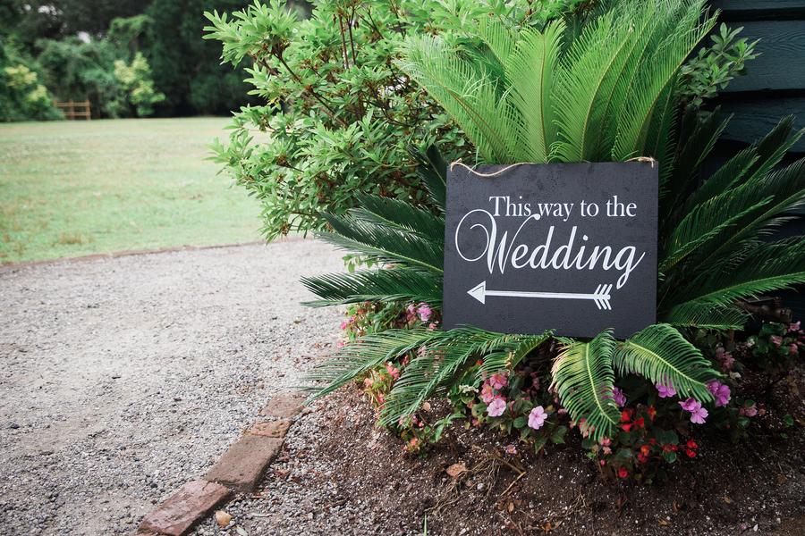 Charleston wedding ceremony sign
