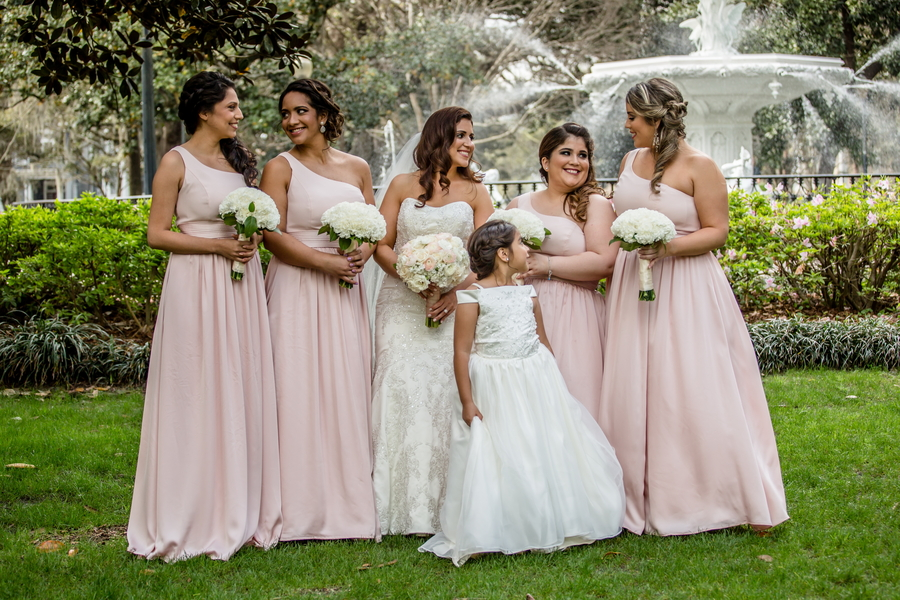 Pink Bridesmaids dresses in Savannah, GA