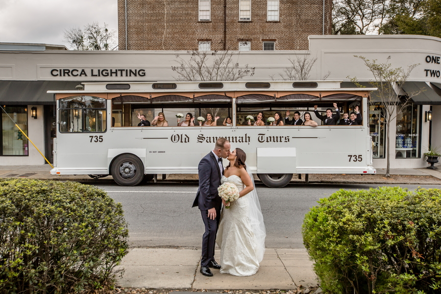 Savannah wedding trolley