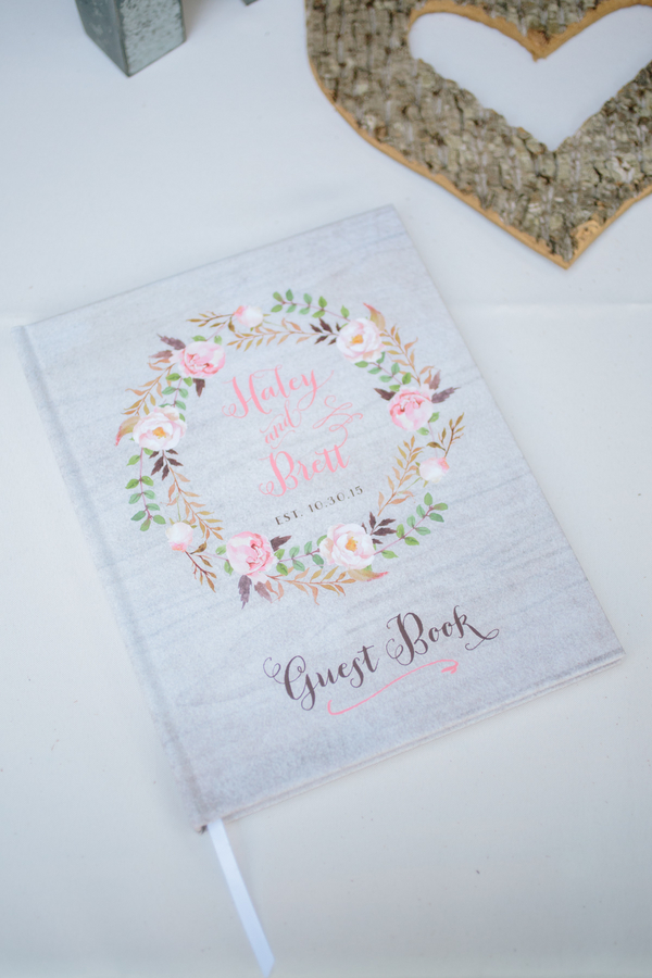 Charleston wedding guest book by Riverland Studios
