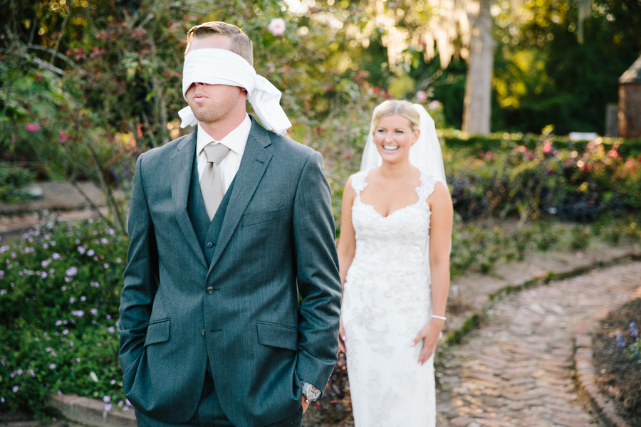 Charleston wedding first look by Riverland Studio