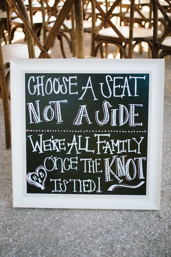 Charleston weding chalkboard by Duvall Events