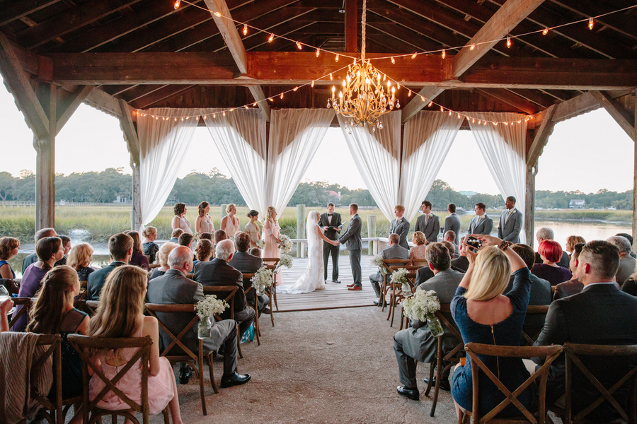 Cotton Dock Wedding ceremony at Boone Hall Plantation by Duvall Events