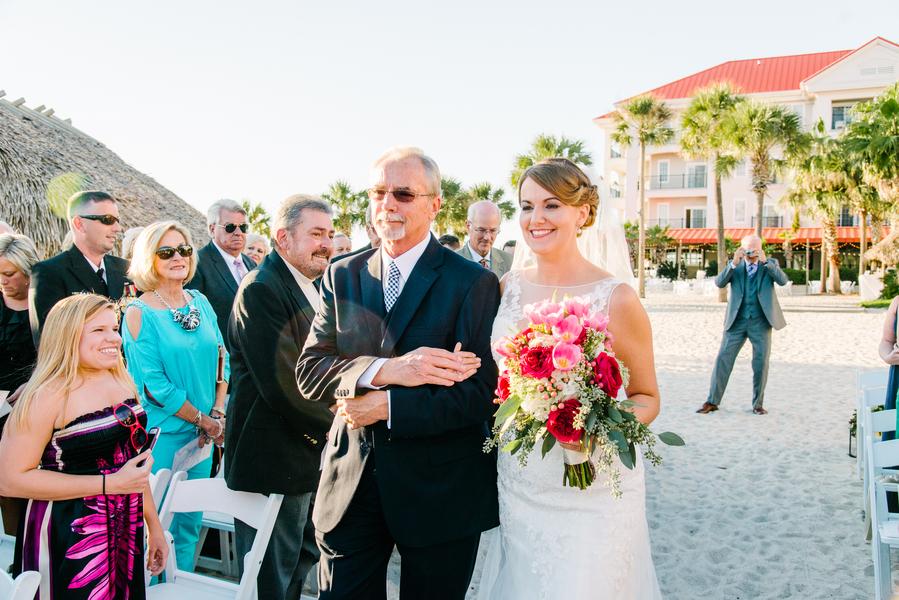 Outdoor beach wedding ceremony at Charlseton Harbor Resort and Marina