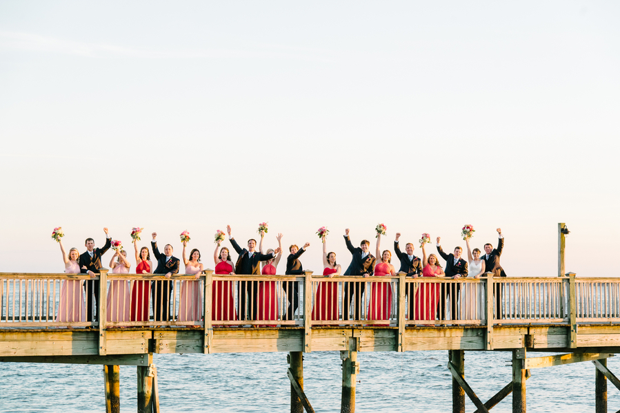 Charleston bridal party at beach wedding by Lowcountry vendors Riverland Studios