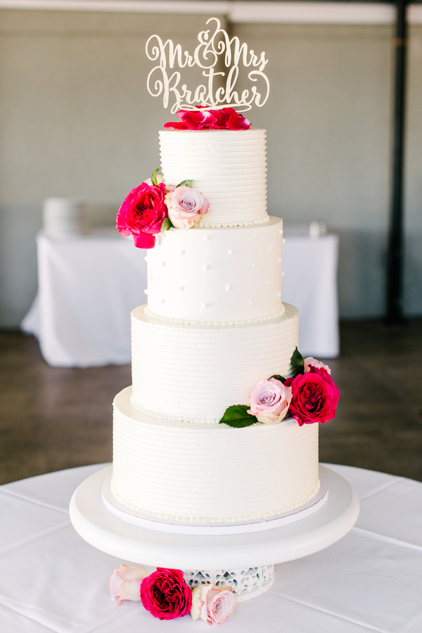 Four tier Charlesotn wedding cake