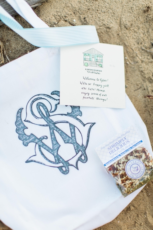 Savannah, Georgia wedding welcome bags by JLeslie Designs