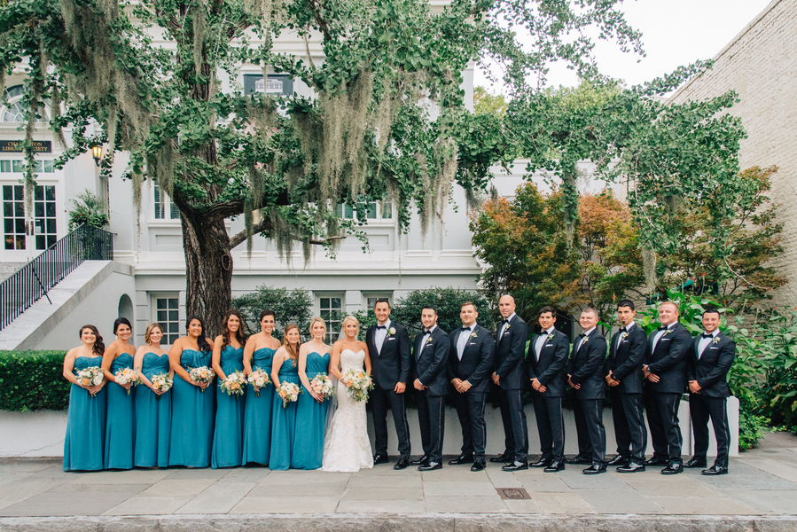 Charleston wedding at The Mills House Hotel by Lowcountry vendors Riverland Studios