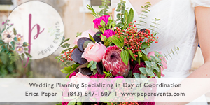 Charleston, South Carolina Wedding Planner and Day of Coordinator - Peper Events