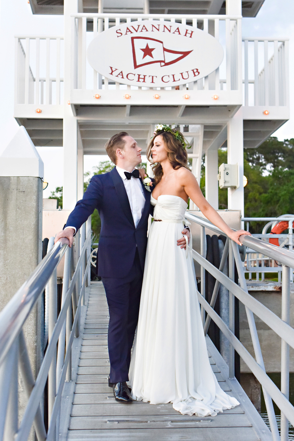 Savannah Yacht Club wedding by Georgia vendors Anne Bone Events and Donna von Bruening Photography