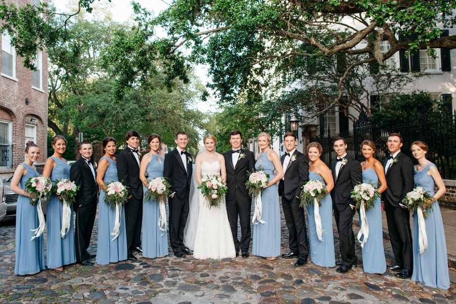 Lowcountry bridal party in Charleston, South Carolina