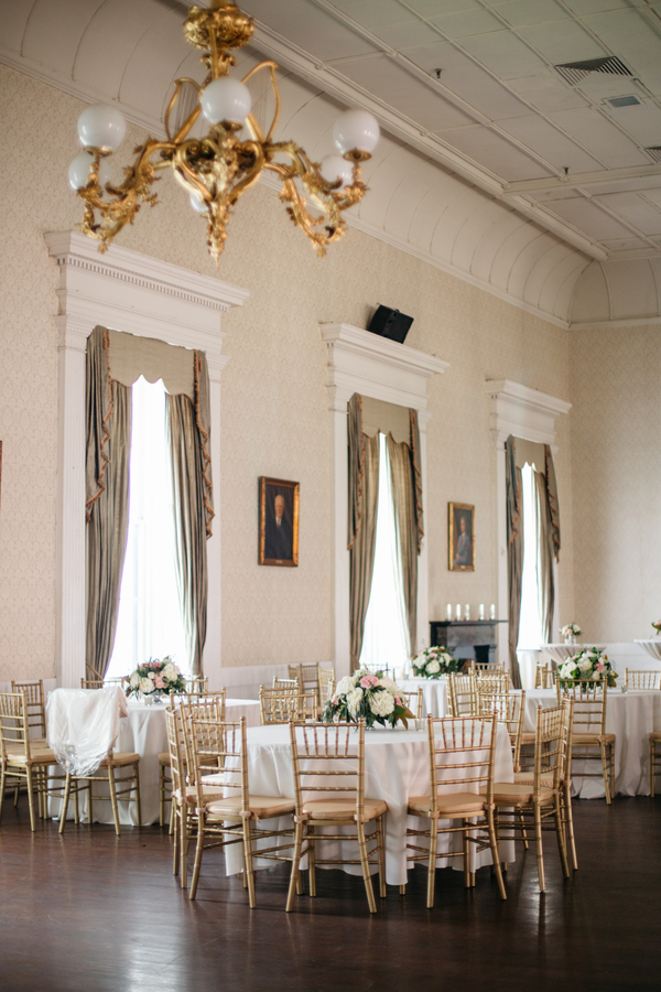 Blush, white and gold wedding at Hibernian Hall