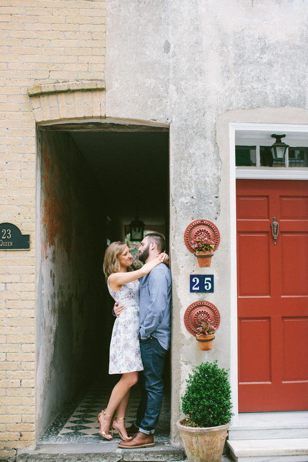 Downtown Charleston, South Carolina engagement by Lowcountry vendor Taylor Rae Photography