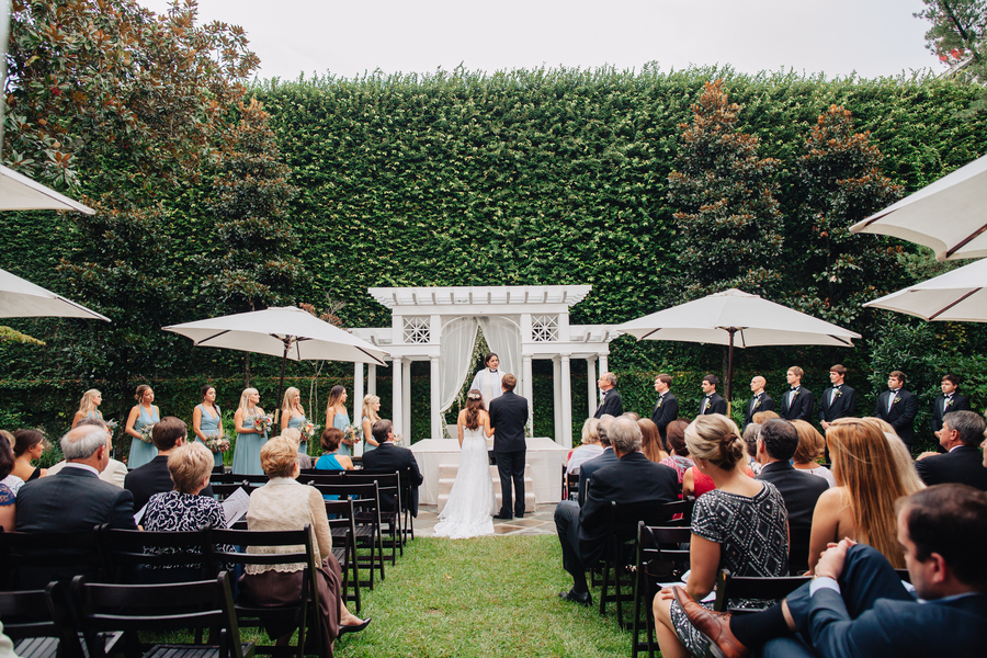 Charleston wedding ceremony at The William Aiken House by Branch Design Studio