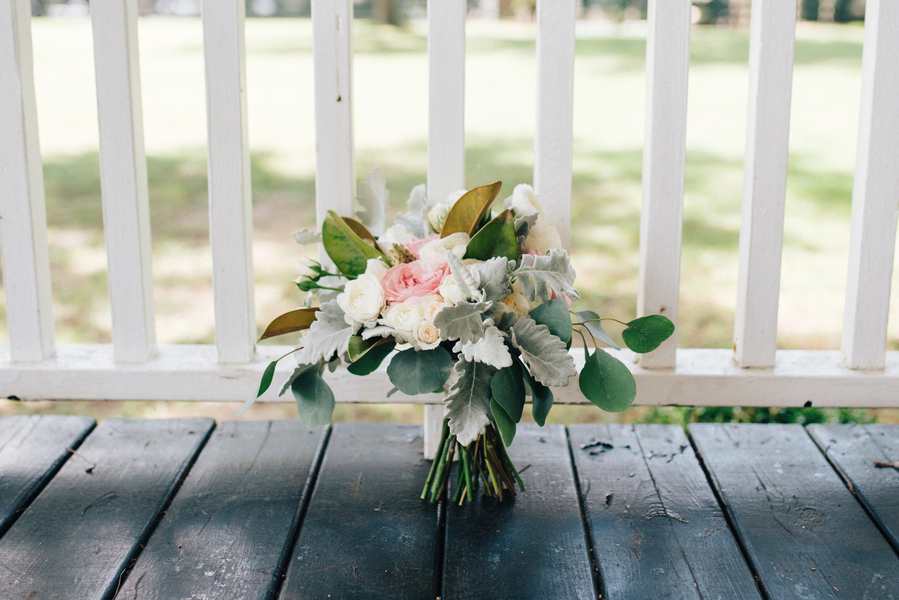 Romantic wedding bouquet by Charleston, SC florist Sweet Magnolia Flowers