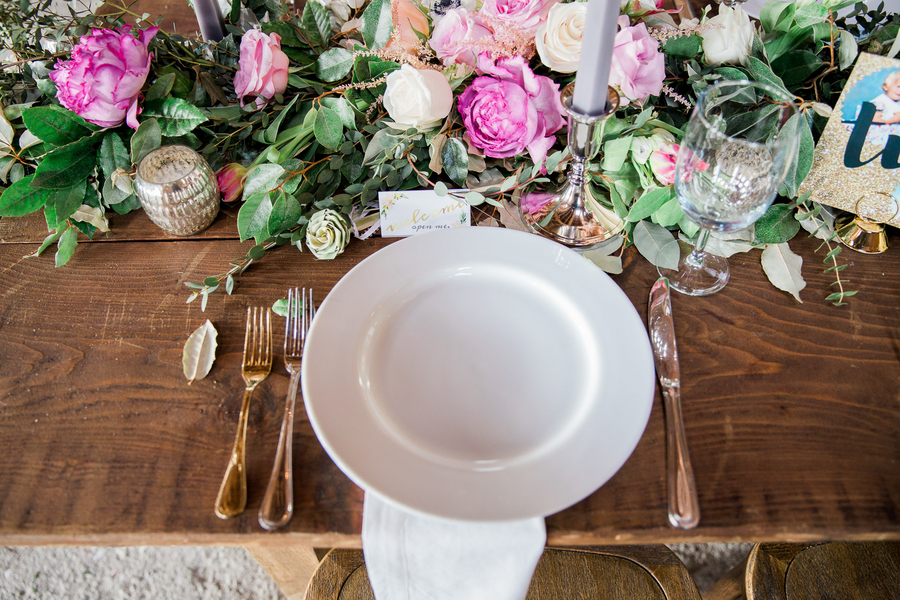 Rustic place setting at Charleston wedding