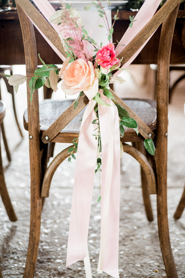 Chair decor by Charleston Stems