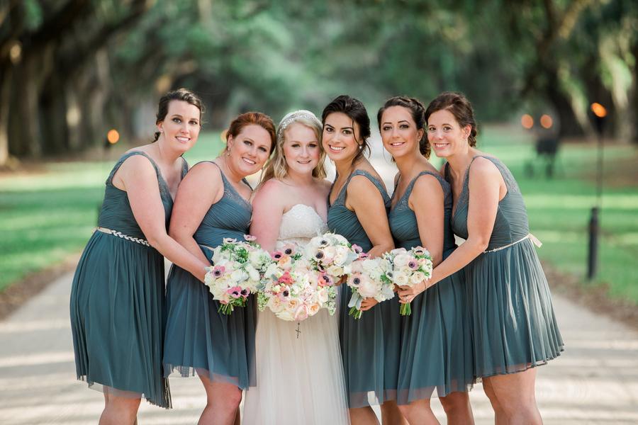 Dark teal bridesmaids dresses