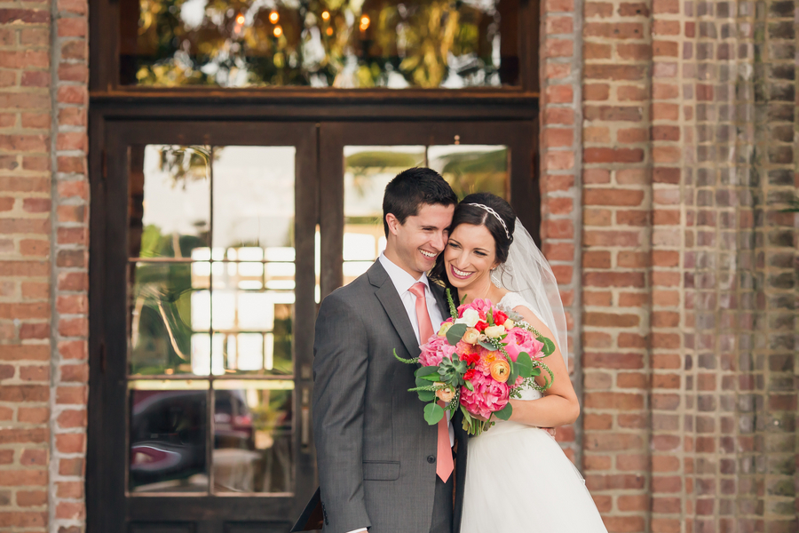 Darrah Boxberger + Graham Torres' Charleston wedding at The Historic Rice Mill Building