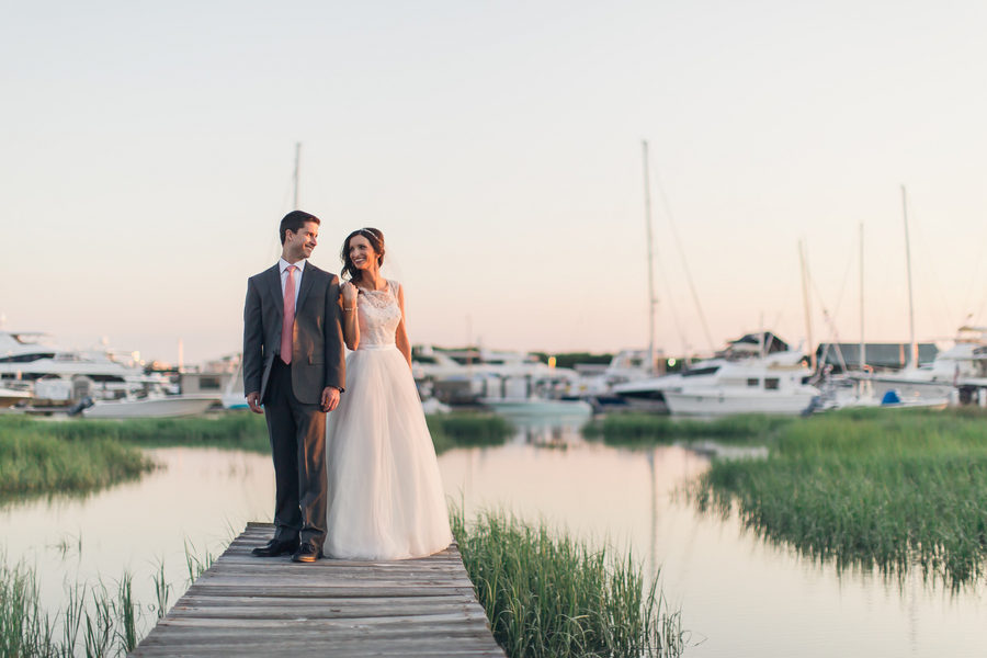 Darrah + Graham's Coastal wedding at The Historic Rice Mill Building