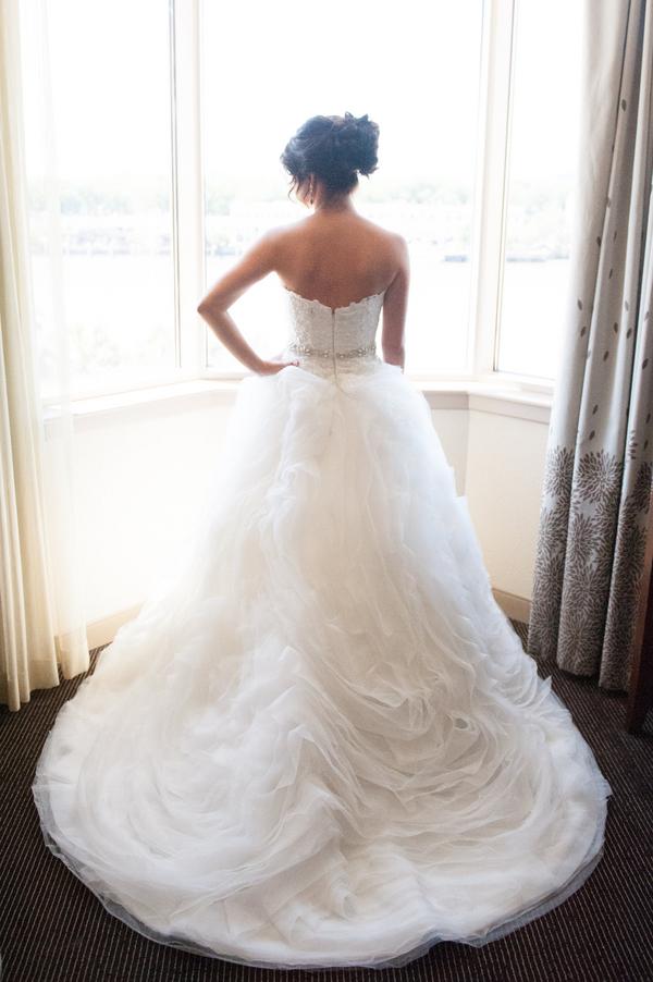 Amsale wedding gown