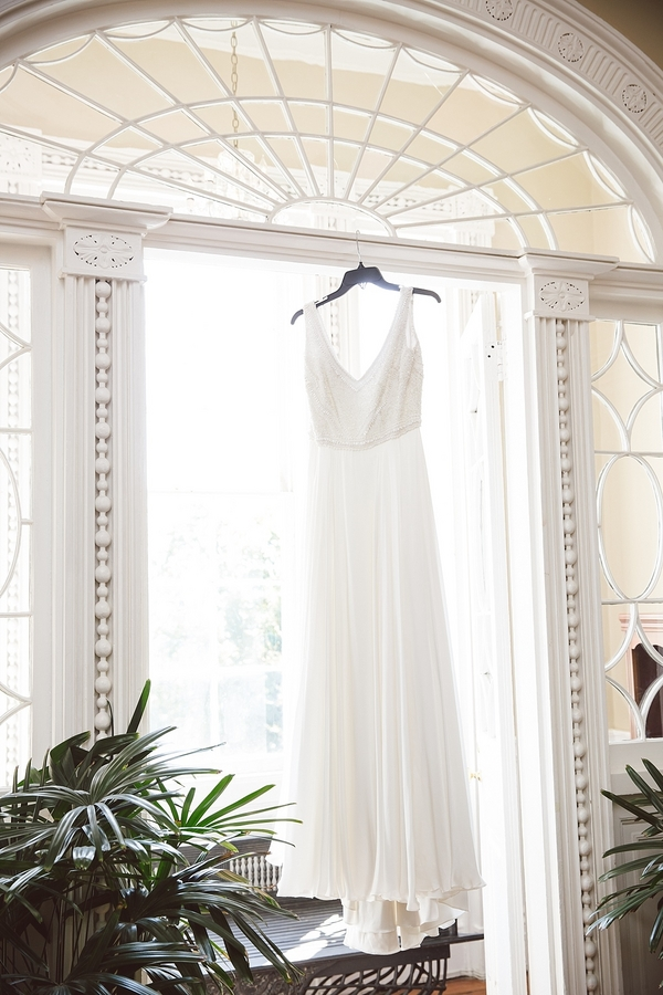 Charleston wedding gown at the Thomas Bennett House