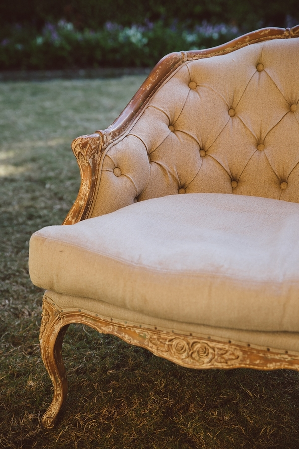 Vintage sofa rentals from Ooh! Events