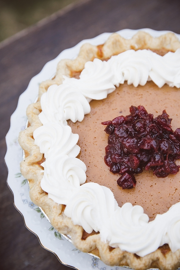 Charleston wedding pie bar by Wildflour Pastry