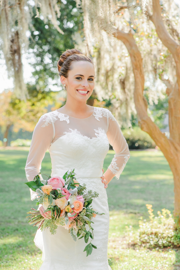 Charleston, SC Bride in Melissa Sweet gown