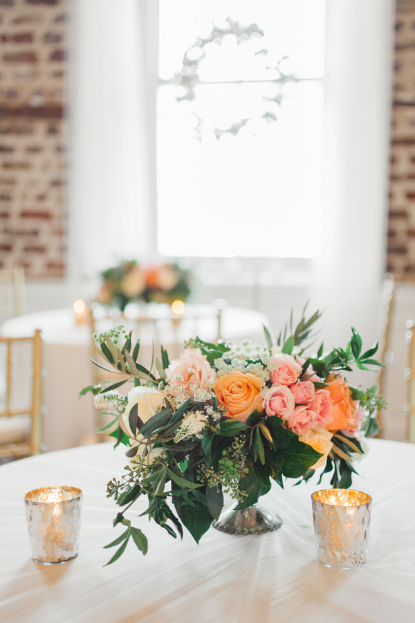 Upstairs at Midtown wedding in Charleston, South Carolina l Spring centerpiece by Branch Design Studio