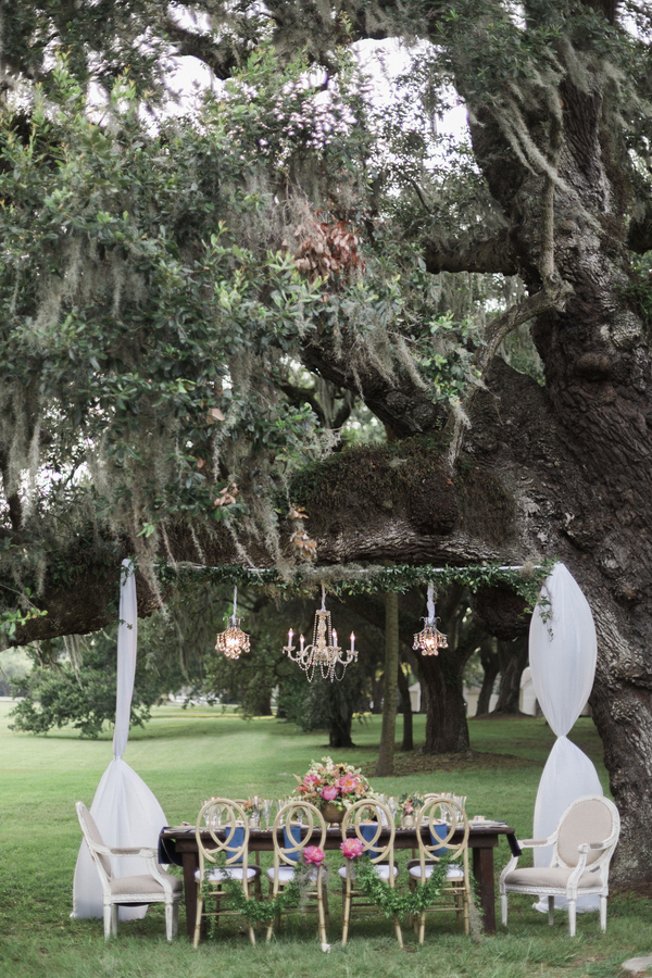 Glamorous McLeod Plantation wedding event design by Teleios Events