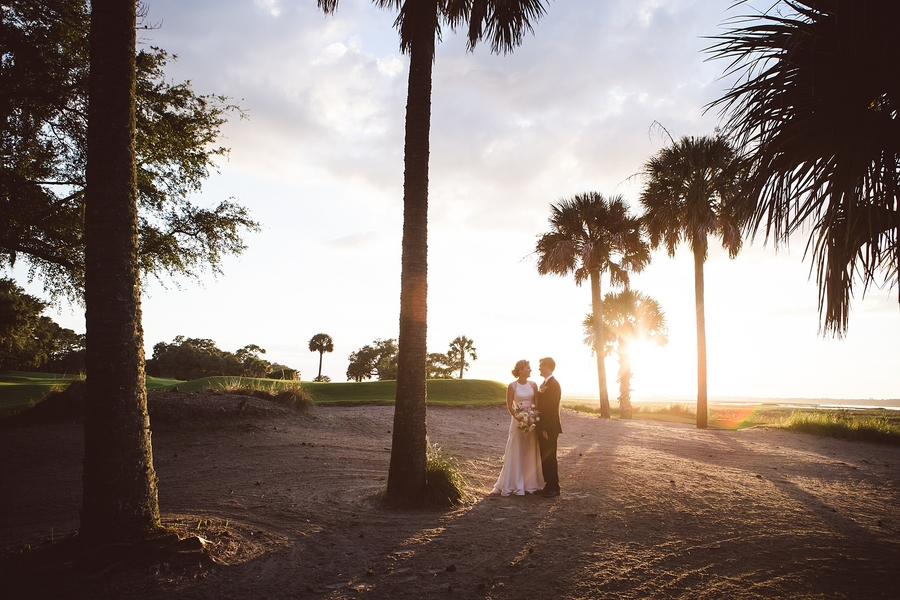 Fall wedding at The River Course on Kiawah Island, SC