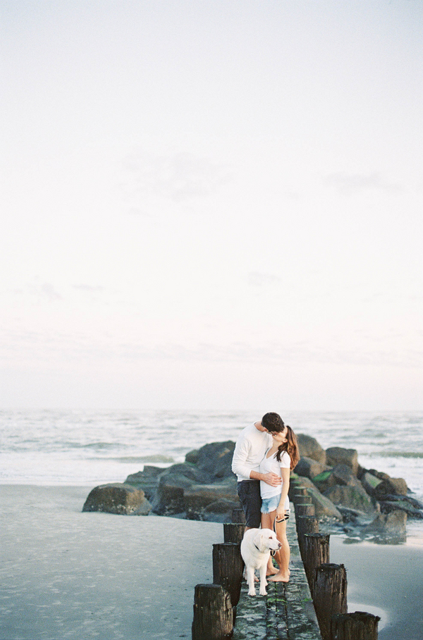 Oceanside Engagement on Folly Beach, South Carolina