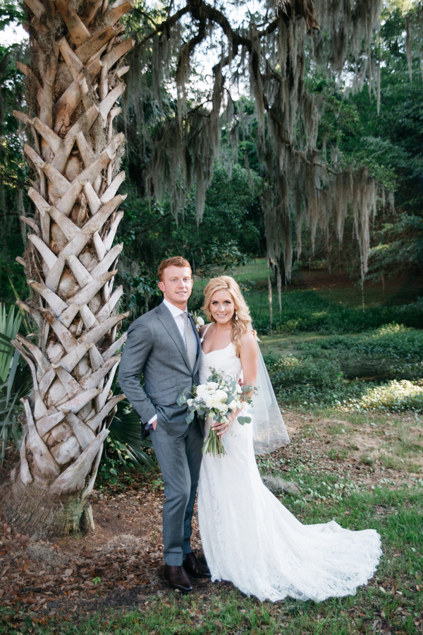 Neutral wedding at the Legare Waring House in Charleston, SC