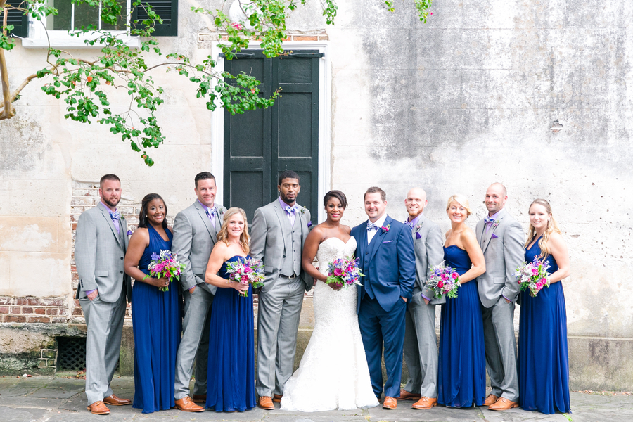 Navy + Purple wedding at Creek Club at I'On